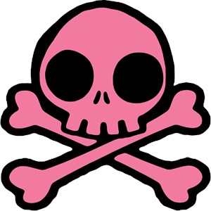 Cute Pink And Black Skull