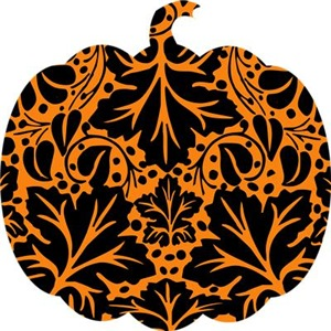 Damask Pattern Pumpkin