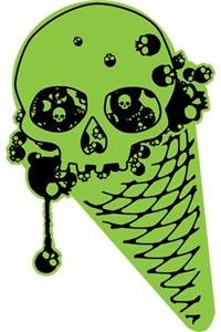 Skull Poison Ice Cream Cone