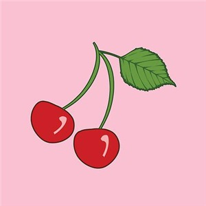 Retro Cherries Pink