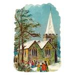 Christmas Church Scene