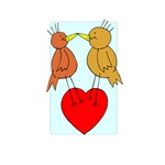 Cute Kissing Lovebirds - Heart
