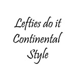 Lefties do it Continental Style - Knitting