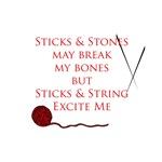 Knitting - Sitcks and Stones