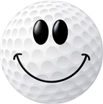 Golf Ball Smiley Face