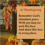 At Thanksgiving Poem