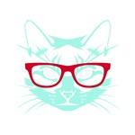 Nerdy Cat Neon