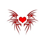 Tribal Heart Tattoo Red