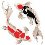 New 2 Butterfly Koi Design