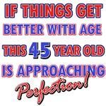 Funny 45th Birthday designs