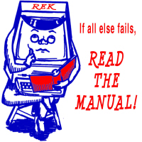 If all else fails - Read the Manual