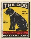 The Dog Matchbox Label