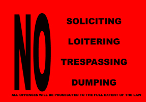 HUMOR/NO SOLICITING