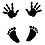 Baby Hands and Feet with Heart