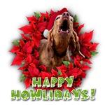 Redbone Coonhound baying