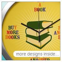Avid Reader Wall Clocks