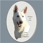 White German Shepherd Art Gifts