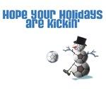 Kicking Soccer Ball Snowman Apparel