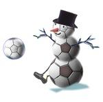 Soccer Ball Snowman