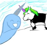 Dani and Neil the Narwhal