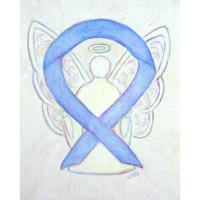 Periwinkle Awareness Ribbon Angel