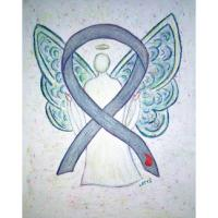 Diabetes Awareness Ribbon Angel