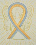Gold and Gray Awareness Ribbon Angel