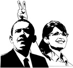 Sarah Gives Obama Rabbit Ears
