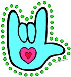 Aqua Dotty Love Hand