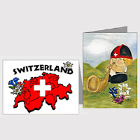 Swiss Themed Greeting Cards