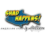 Shad Happens American Striper Fisherman