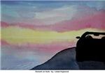 Sunset on Auto by Linda Hopwood