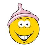 Funny Condom Head Smiley