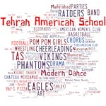 Tehran American School Red & Blue Word Cloud