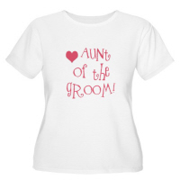 Aunt of the Groom Hip Wedding T Shirts Gifts