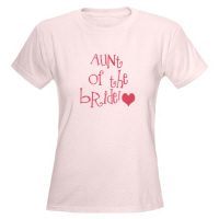 Aunt of the Bride Wedding Apparel Hip Shirts