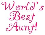 World's Best Aunt! - Pink