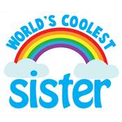 world's best sister rainbow
