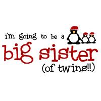 big sister twins christmas penguin