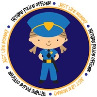 Girl Occupation Police Like Mommy