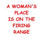 funny target shooting joke on gifts and t-shirts.