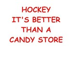 a funny hockey joke on gifts and t-shirts.