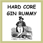 a funny gin rummy joke on gifts and t-shirts.