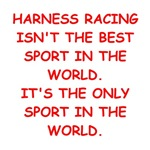 a funny harness racing joke on gifts and t-shirts.