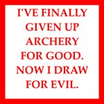 funny archery joke on gifts and t-shirts.