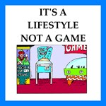funny pin ball joke on gifts and t-shirts.