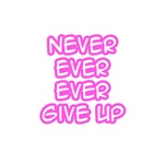"""""""Never Ever Ever Give Up"""" Shirts and Gifts"""