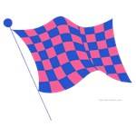 pink and blue flag