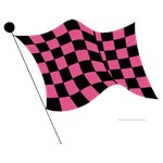 pink and black flag