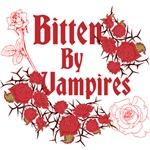Bitten by Vampires w/Roses, Dark Red